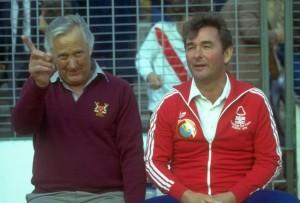 Clough junto a su fiel compañero Peter Taylor