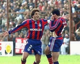 Qué golazo, hermano! Le dice Ameli a Tuzzio, empezaron en San Lorenzo.