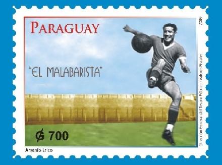El gobierno paraguayo le puso en una estampilla.