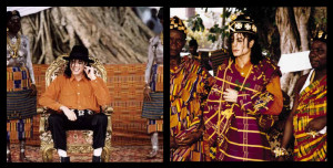 Michael Jackson: rey del pop y también príncipe marfileño.