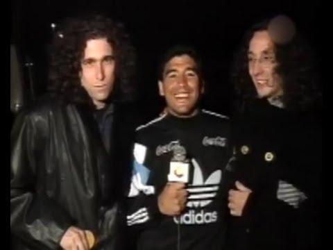 Andrés y Fito despidieron a Maradona.