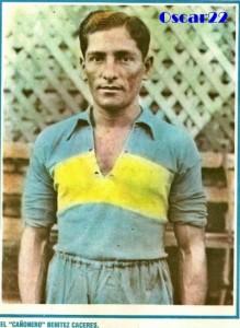 Delfín Benítez, con una camiseta de Boca para el recuerdo.