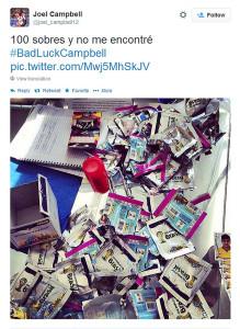 El famoso tuit de Joel Campbell.