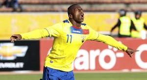 Chucho festejando uno de sus tantos goles con la  selección.