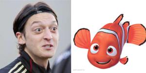 Mesut Ozil y su clon: Nemo