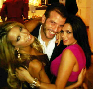 Rafael van der Vaart, con la ex y su futura novia al mismo tiempo.
