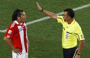 Carlos Batres, el que cobró el offside de Tacuara.