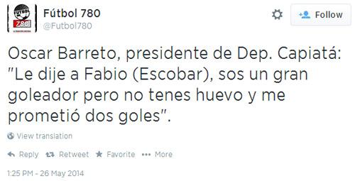 Fabio Escobar cumplió su promesa del Apertura.