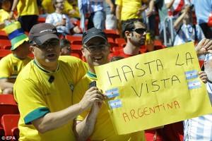 Uno de los tantos brasileños que esperaba una eliminación argentina.