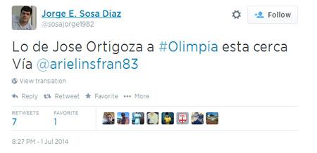 Lo de José Ortigoza estuvo tan cerca de Olimpia, que ahora está practicando con Cerro.