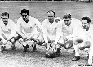 Kopa, Rial, Di Stefano, Puskas, Gento. La gloria misma del Madrid