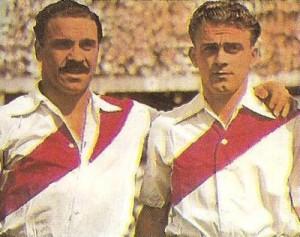 """En River, con el """"Charro"""" José Manuel Moreno."""