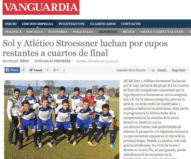 """""""Atlético Stroessner"""" y nada más que agregar. Andá hacele un """"ole.. ole"""" (?)"""