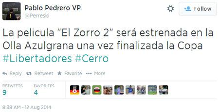 Es probable que esté hablando de la Copa Liberadores 2015 o 2016.