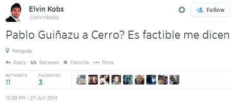 Claro que es factible. Solo falta que Cerro venda a todos sus jugadores y que no tenga Cuerpo Técnico ni Inferiores para pagarle a Guiñazú.