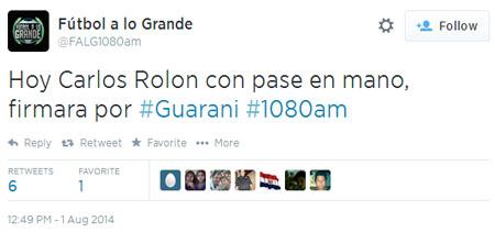 Humo a lo Grande (?). Que no se enoje Arturito, pero Rolón firmó por Luqueño.