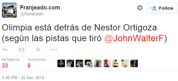 John Walter dijo: Es gordito, juega bien, es argentino y podría venir a Olimpia. Se refería a Maradona.