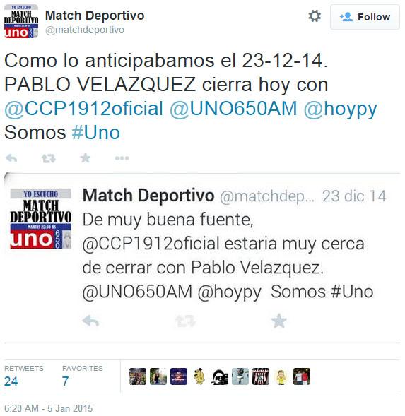 Arrobar a todos para el Humo se extienda. Pablo Velázquez fichó por el Atlético Nacional de Colombia.