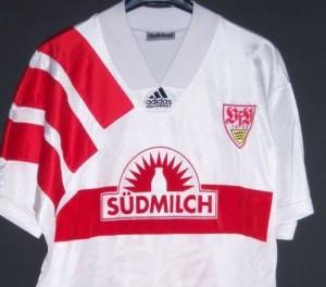 La casaca del VFB Stuttgart de la temporada 92.