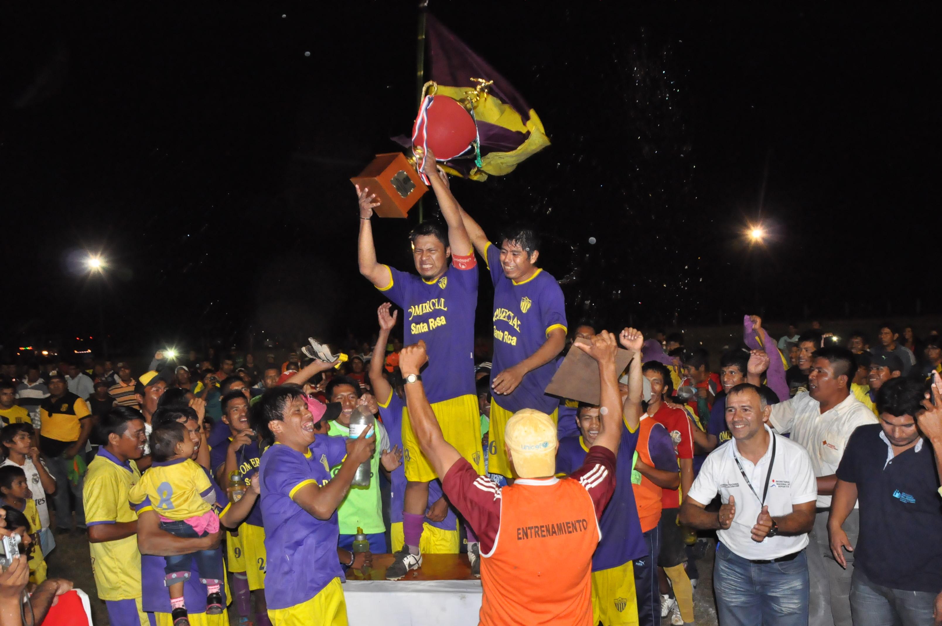 El club 1 de mayo, campeón del campeonato de pueblos originarios.