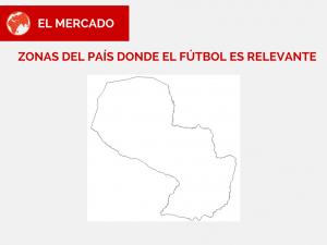 Hicimos un rápido estudio de mercado y decidimos marcar en rojo todas las zonas del país donde el fútbol es relevante.