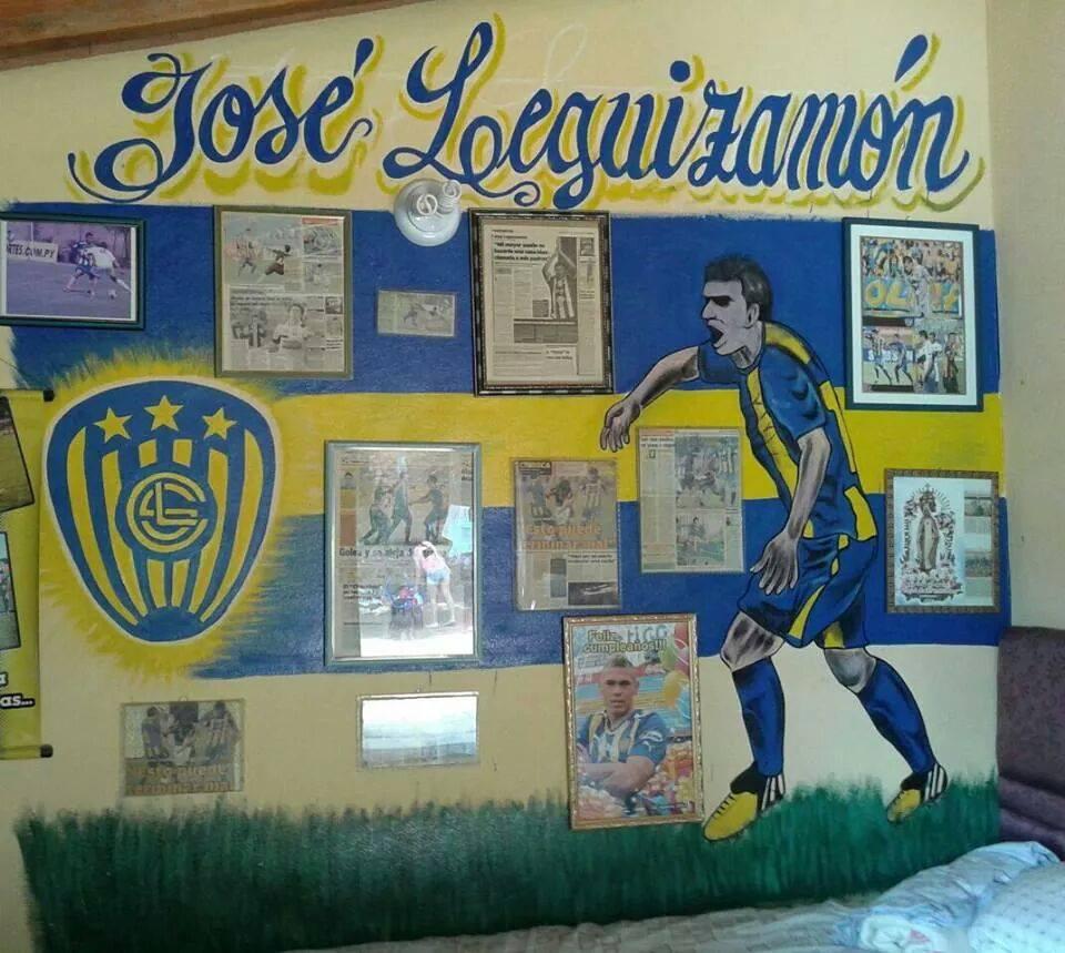 Un verdadero fanático del Auriazul (FB José Leguizamón)