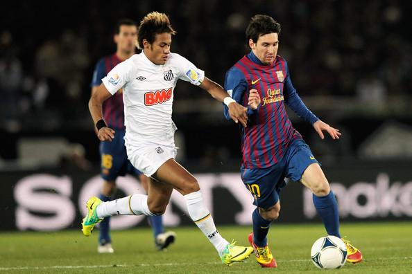 Las estrellas de ambos equipos: Neymar y Messi