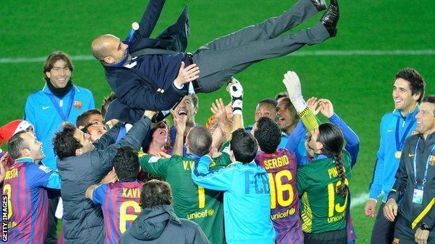 Así festejó Guardiola un nuevo título